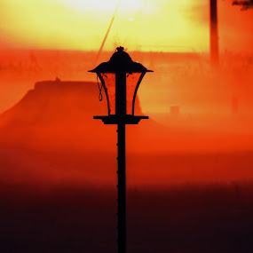 Lamp Post by Grady  Welch - Artistic Objects Other Objects ( sunrise, vibrant, post, lamp, pole )
