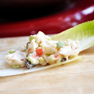 Light and Creamy Crab Salad on Endive