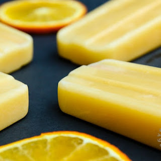 Orange Julius Popsicle (vegan, gluten-free).