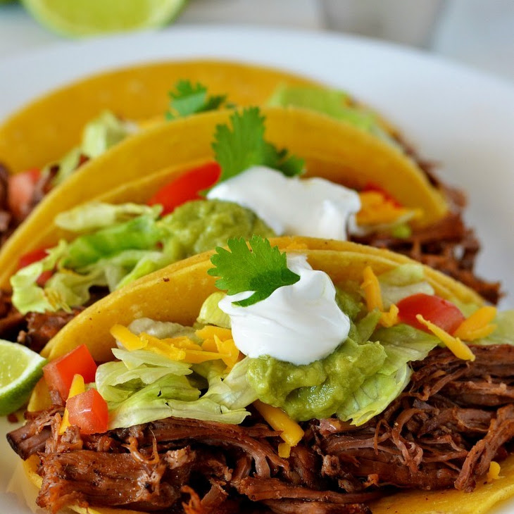 Crock Pot Shredded Beef Tacos Recipe