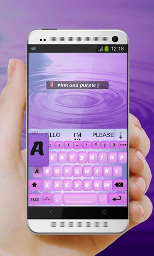 無料个人化Appのピンクと紫 AiType テーマ|記事Game