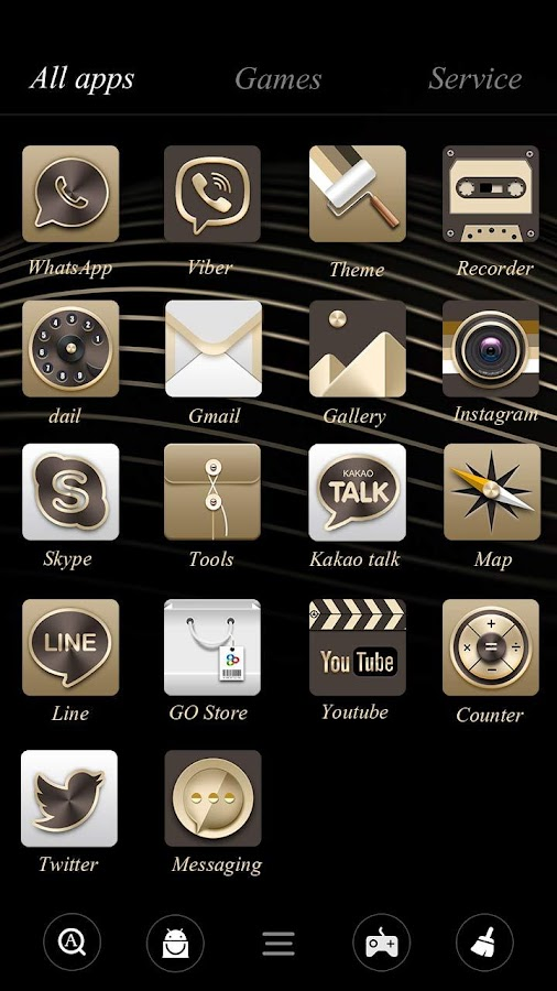 Honourable Go Launcher Theme- screenshot