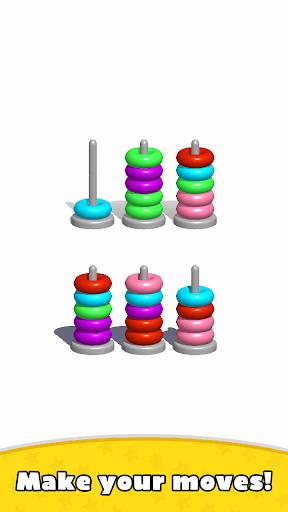 Sort Hoop Stack Color - 3D Color Sort Puzzle android2mod screenshots 2