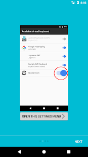 Upside Down keyboard - náhled