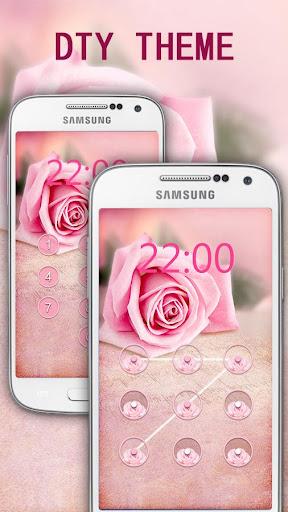 粉色玫瑰鎖屏主題
