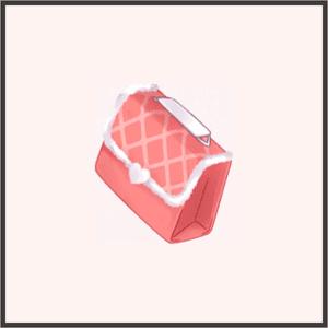 桃色ハンドバッグ