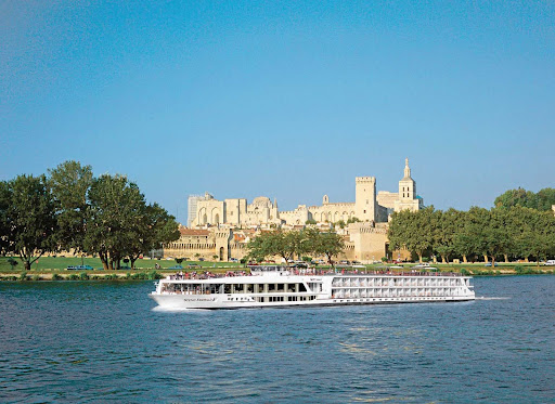 Scenic emerald.jpg - Scenic Emerald passengers will be in awe once the ship reaches the banks of Avignon on the Rhone River, with the magniificent Pope's Palace as the backdrop.