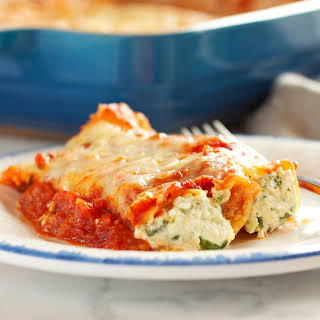 Baked Ricotta and Spinach Cannelloni.