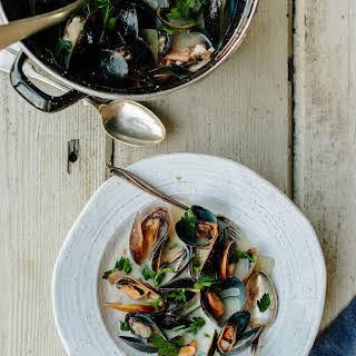 Mussels in Irish Cider.