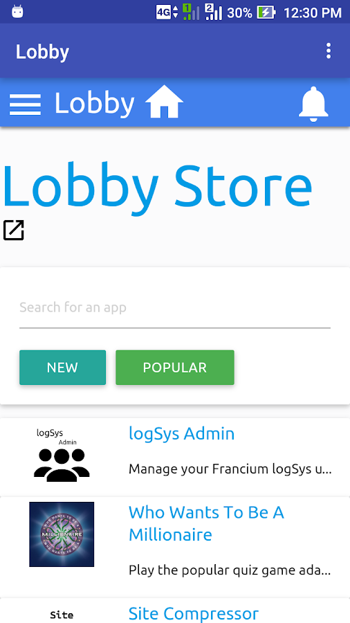 Lobby- screenshot