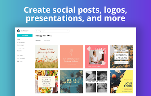 Canva: Graphic Design, Video Collage, Logo Maker Screenshot
