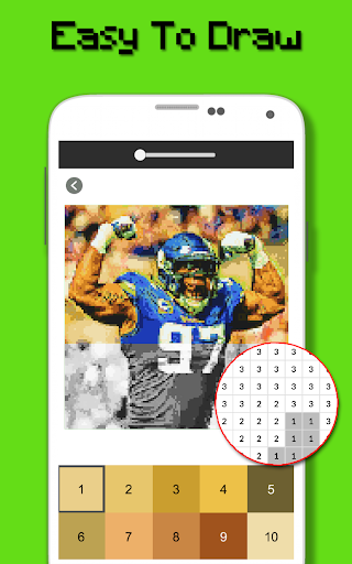 American Football Player Color By Number - Pixel apktram screenshots 6