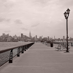 Hoboken, NJ by AsDigiClicks Photography - Landscapes Travel ( monochrome, boston, hoboken, new york, landscape )