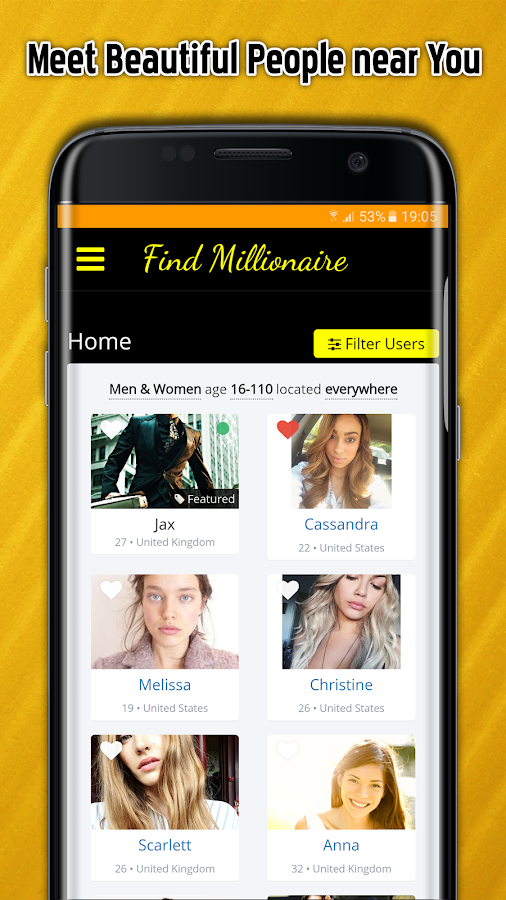 meet millionaires online for free