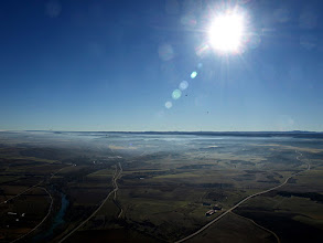 Photo: Las nieblas poco espesas y se iban disipando