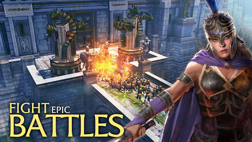 Olympus Rising: Tower Defense and Greek Gods apkpoly screenshots 2