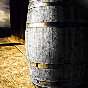 Barrel Of by Brandon Rose - Artistic Objects Other Objects ( wine, sepia, b&w, color, barrel, shadows )