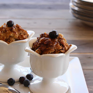Slow Cooker Cinnamon and Pecan Bread Pudding.