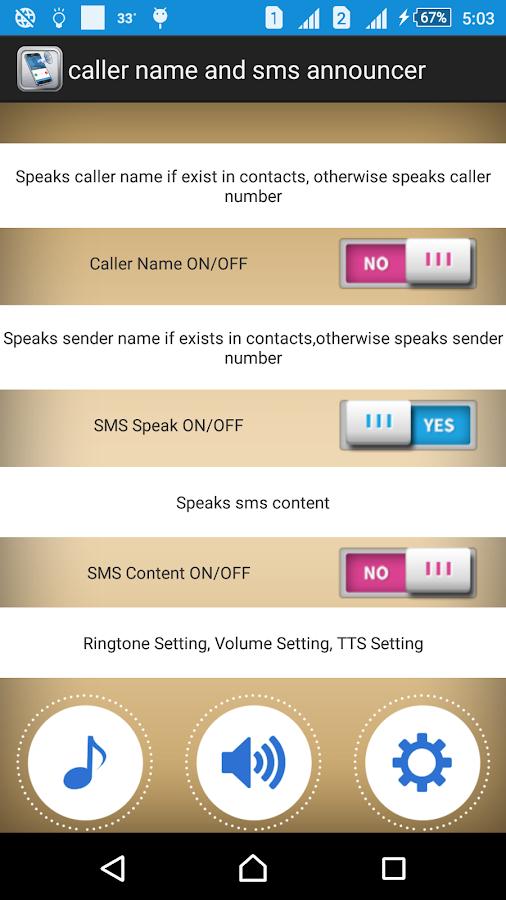 social Incoming Caller Name Ringtone.