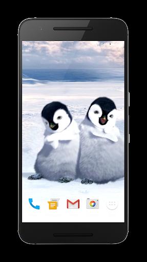 ペンギンは 3Dライブ壁紙を踊ります