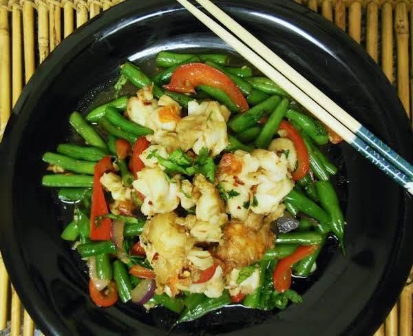 Stir-fry Lobster & Green Beans