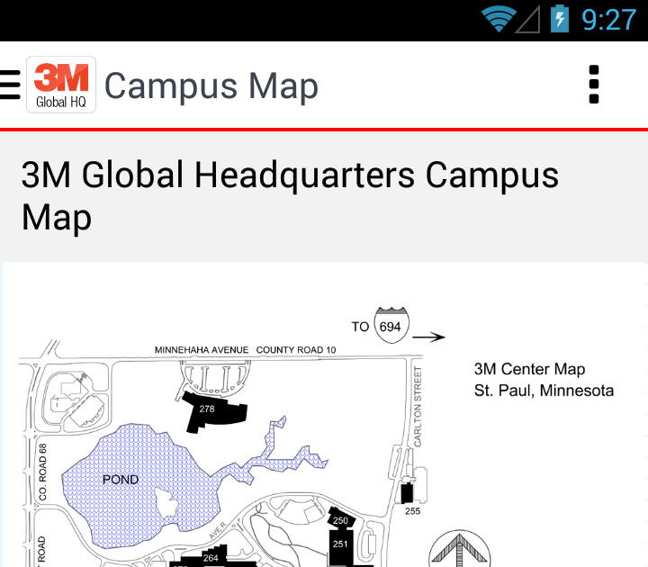 3M Center Map 3m St Paul Campus Map | Metro Map