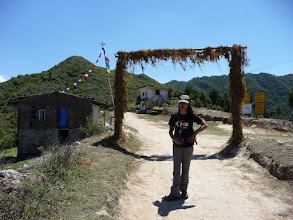 Photo: Emily arrives Chisopani (2140m)