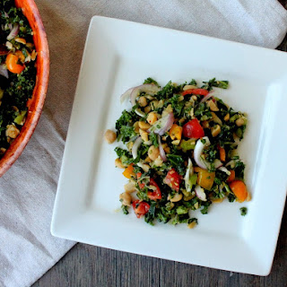 Chopped Kale and Chickpea Salad
