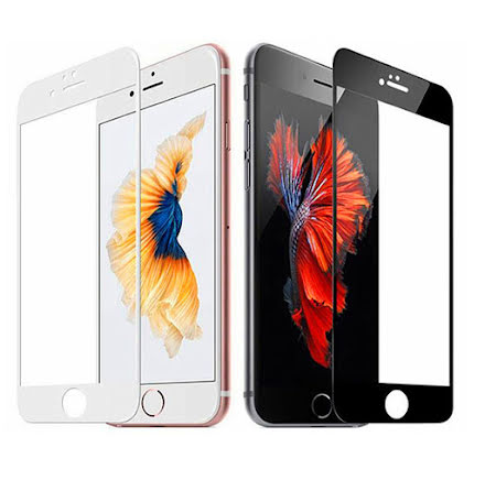 iPhone 7 Skärmskydd 2.5D Ram 9H 0,3mm HD-Clear Screen-Fit