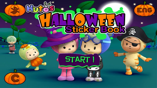 Hutos Halloween Sticker Book