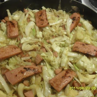Fried Cabbage & Sausage.