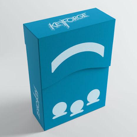 Keyforge Aries Deck Box Blue