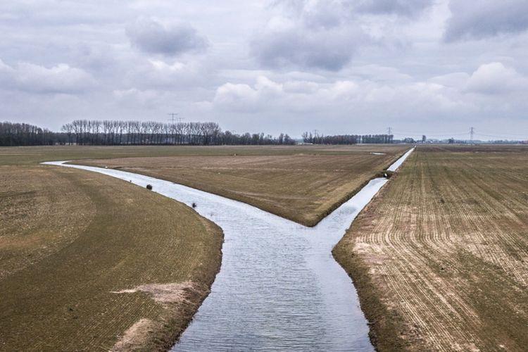 Area penampung banjir di Nijmegen