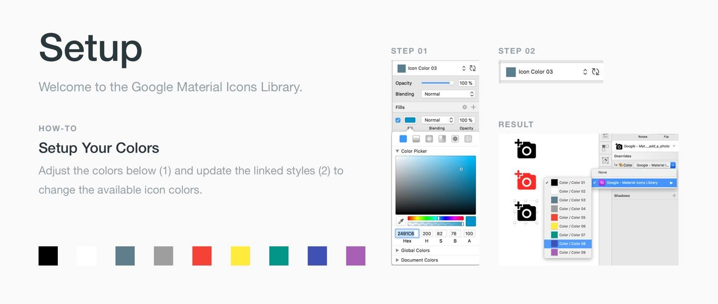 Free Download: Google Material Icons Library for Sketch App
