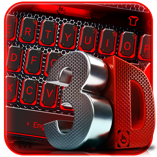 3D Black And Red Tech Keyboard Theme file APK for Gaming PC/PS3/PS4 Smart TV