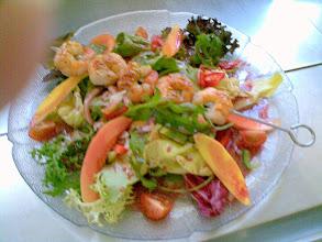 Photo: Crevetten Spiess auf Salate
