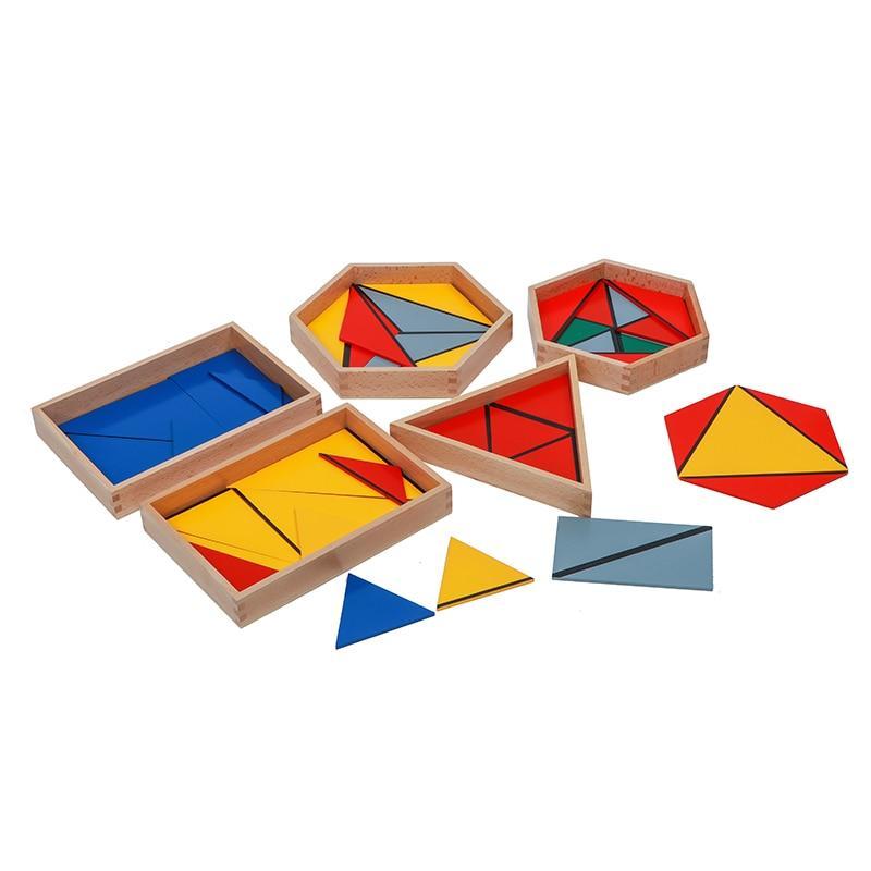 triangle constructeur jeu montessori activité géométrie