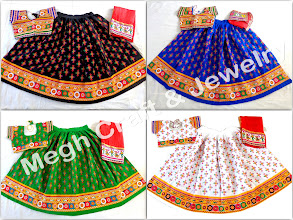 Photo: RABARI EMBROIDERED CHANIYA CHOLI-APPROX SIZE: Height of Skirt (chaniya) -40''inch/Skirt flared size (width )-144''inch The skirt has both sided (front & back) embroidery work./Size of Blouse : Regular (free size)
