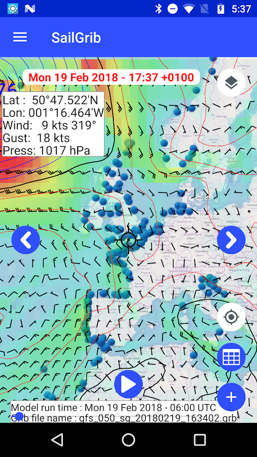 Marine Weather | SailGrib Free- screenshot