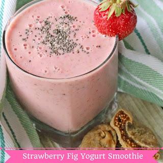 Strawberry Fig Yogurt Smoothie.