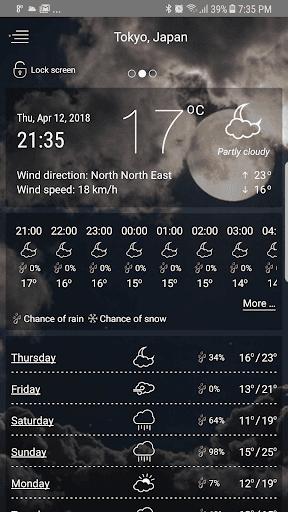 حالة الطقس screenshot 1