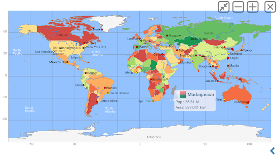 World Atlas | world map | country lexicon MxGeoPro Screenshot