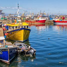 Brixham Harbour. by Graeme Hunter - Transportation Boats