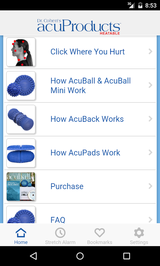 acuProducts- screenshot
