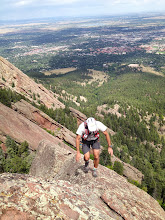 Photo: Heading up the final ridge to the summit of the Fifth Flatiron