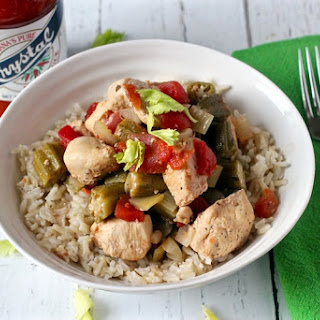Cajun Chicken With Stewed Okra And Tomatoes