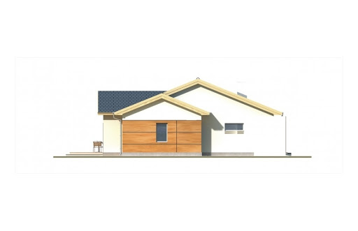 Agatka wersja A dach 22 stopnie - Elewacja lewa