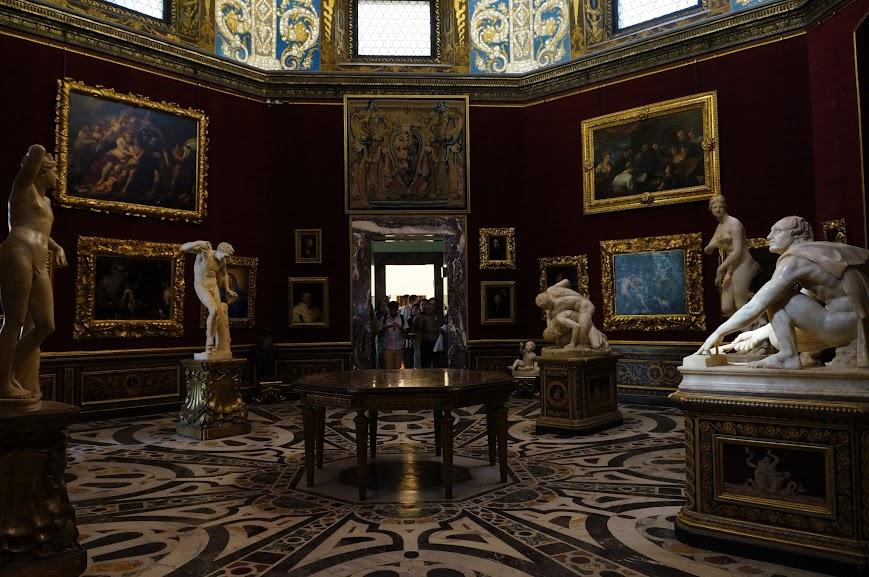Interior of the Uffizi