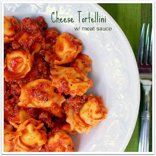 Cheese Tortellini with Meat Sauce Recipe