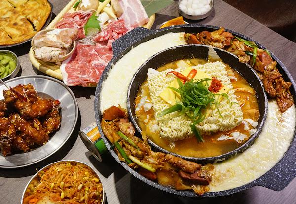 爽吃韓式烤肉x超濃郁起司部隊鍋-娘子韓食(高雄美術館加盟店)
